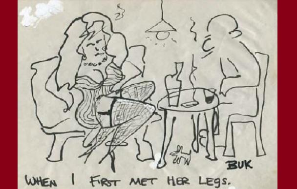 Bukowski e i disegni inediti del 'Taccuino di un vecchio sporcaccione'