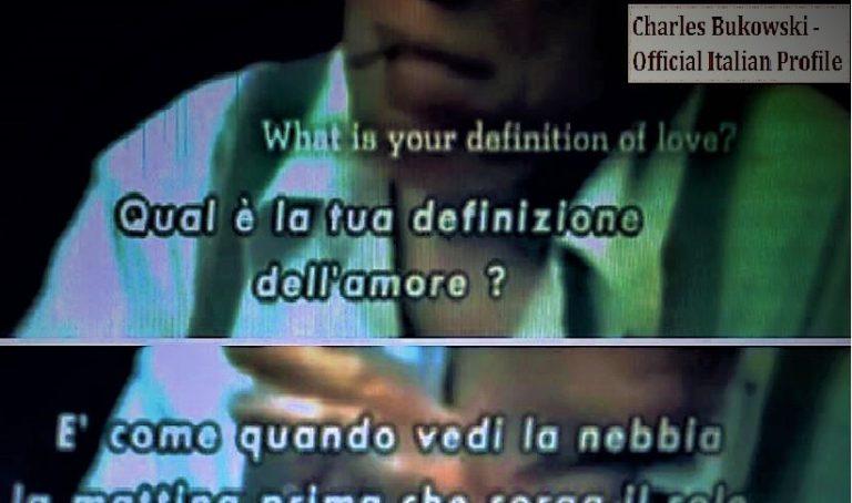 Qual è la tua definizione dell'amore?