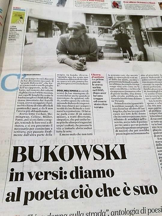 "Bukowski: ""Sei incancellabile tu"". Una poesia d'amore"